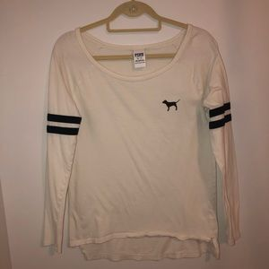 PINK long sleeve (off white) shirt